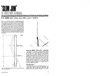 The Slim Jim Antenna