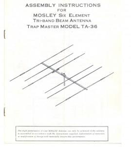 Mosley TA-36 Triband beam
